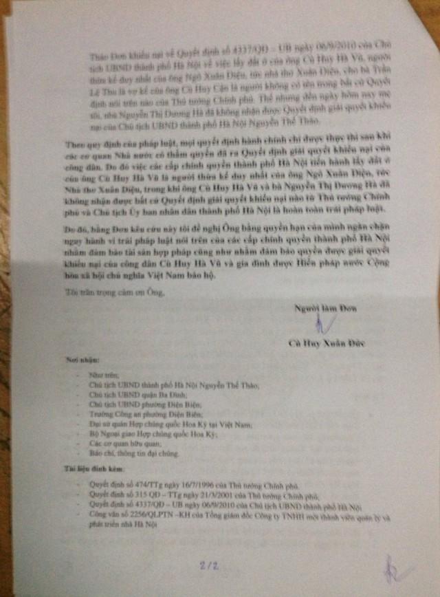 CÙ HUY XUÂN ĐỨC - ĐƠN KÊU CỨU 23-10-2014 - TRANG 2